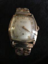 "VINTAGE BULOVA 1950's ""L9"" 10K GOLD PLATED WRISTWACTH"