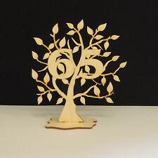 Jubiläumsbaum Geburtstag, 65 Jahre aus Holz 16cm Lebensbaum Geschenk Hochzeit