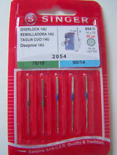 3 Packs x 5 Singer Needles 2054, size 70/10 and 90/14 (15 needles total)