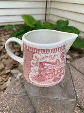 Vintage CURRIER & IVES Royal China PINK RED Creamer EXCELLENT