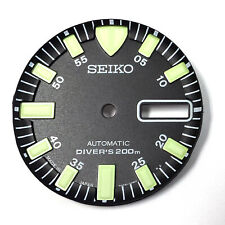 SEIKO Black DIAL for SKX779  with  Green Luminous