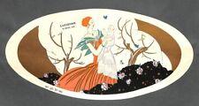 """ART DECO """" DESSUS BOITE DRAGEES BOISLIVEAU LA ROCHE/YON """" DESSIN BONNOTTE 1925"""