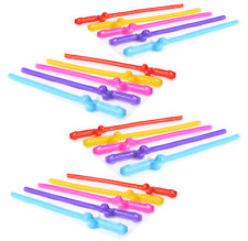 Penis Sipping Straws 20 Pack Drinking Straw Bachelorette Party Favor