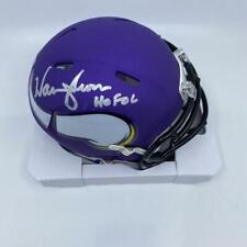 Warren Moon Signed Minnesota Vikings Speed Mini-Helmet