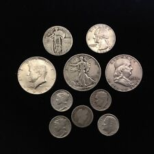 "$2.50 Face Value Mixed 90% Us Silver Coins Halves Quarters Dimes ""Junk Silver"""