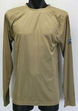 PLATATAC Long Sleeve Cool Undershirt Khaki X-LARGE