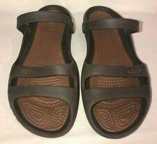 Women's Crocs Slide Sandals Brown Size 10
