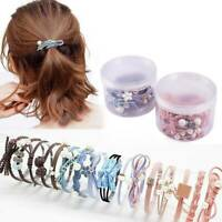 12 Pcs/Set Korean Women Hair Tie Ponytail Holder Hair Rope Elastic Rubber Band