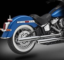 "2018 Harley Exhaust, RCX 3.0"" Chrome Mufflers, Rival Short Chrome Tips"