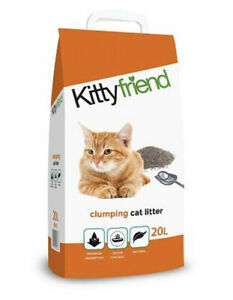 Kitty Friend 20L/20kgs Clumping Cat Litter Highly Absorbent  20 Litre FREE P&P