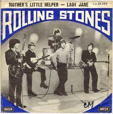 """THE ROLLING STONES """"MOTHERS LITTLE HELPER"""" BELGIUM 60'S 7' DECCA LU 26.069"""