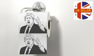 Boris Johnson Face Printed Toilet Paper Butt Wipes Novelty Fun Gift Brexit Tory