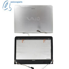 LCD Back Cover Front Digitizer Touch Screen Glass Bezel  For Sony VAIO SVE14 US