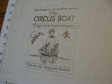 Charles E. Pont Original Art from 1939 Circus Boat book: Jacket COVER
