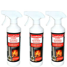 3 x cleanprince Fireplace Cleaner 500 ML Stove Glass Grime 1,5 Litre