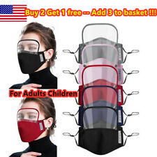 Unisex Adults Children Cotton Blend With Eyes Shield Solid Windproof Face Mask