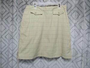 EP Pro Skort Size 8 Green Plaid Lined Side Zipper Pocket Golf  Short Straight