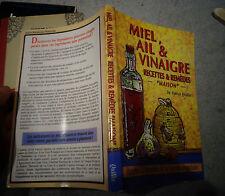 Honey garlic & vinegar recipe & remedy house kitchen nature plants 1997