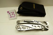 PRE OWNED LEATHERMAN SKELETOOL MULTI TOOL KNIFE & NYLON SHEATH -B22#13