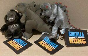 Godzilla vs Kong Godzilla Kong Mechagodzilla Mascot Plush Doll Set Sega Prize