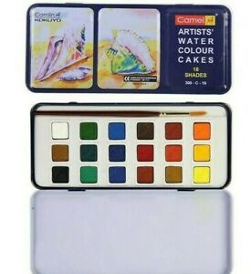 Camel Artists Water Colour Cakes 18 shade 1- Set| Non-Toxic |Smooth effect