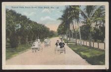 Postcard Palm Beach Florida/Fl Tourists on Push Carts view 1907