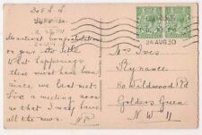 Mrs Ives, 80 Wildwood Road, Golders Green, London 1930 Postcard B609