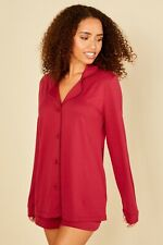 NEW - Cosabella Bella LS Top and Boxer Pajama Set in Deep Ruby - S, M, L, XL