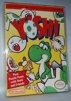 Yoshi (1992) Cartridge + Box + Sleeve NES Nintendo Game Authentic Tested Good