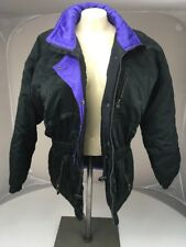 VTG INSIDE EDGE SKI SNOWBOARD PUFFER COAT JACKET WOMENS SZ S PURPLE Black Parka