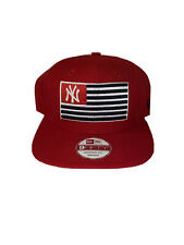 New York Yankees Snapback Hat Usa Flag Red Rare MLB Baseball New Era
