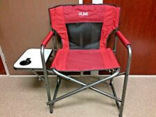 Uline Folding Chair With Side Table And Cupholder Directors Chair