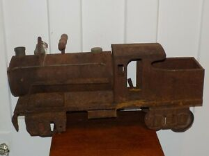 Vintage Early Keystone Pressed Steel Ride on Toy Train