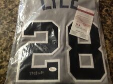 SPARKY LYLE AUTOGRAPHED JERSEY YANKEES #28  JSA COA  1977 AL CY YOUNG WINNER