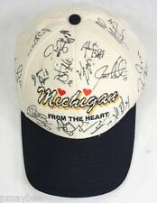 2005 Michigan Hockey Team Autographed Baseball Cap - 18 Autographs Eric Nystrom