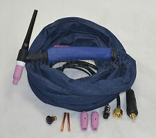 WP-17F Tig Welding Torch Completed With Flexible Head Body Euro Style 3.8 Meter