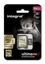 Fast 64GB microSDXC Class 10 UHS-I U3 95MB/s + Adapter. Ideal 4K, Full HD Video.