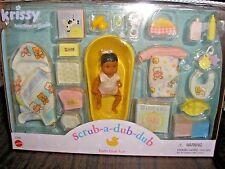 2000 Barbie Krissy Baby Doll SCRUB A DUB DUB Bath Set 27244  AA Ethnic NRFB