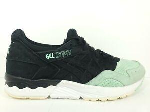 Asics Gel LYTE V 5 Mens Size 8.5 Running Shoes Black Mint White H737L 9090