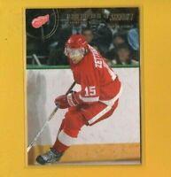 39917 HENRIK ZETTERBERG 2002/03 STADIUM CLUB RED WINGS ROOKIE CARD #127 BK$25