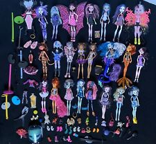 Monster High Doll Lot of 23 with Accessories Books Pets Shoes