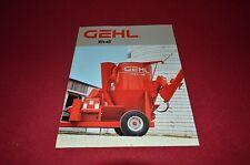 Gehl 170 125 Mix-All Grinder Mixer Guide Dealer's Brochure AMIL9