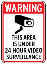 """Warning Sign """"THIS AREA IS UNDER 24 HR CAMERA...  5mm corflute 300MM X 225MM"""""""