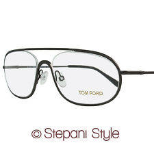 Tom Ford Oval Eyeglasses TF5155 013 Size: 55mm Matte Ruthenium FT5155
