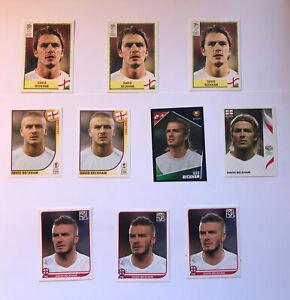 David Beckham England Panini Sticker Set - Includes Euro 2000 RARE ROOKIE