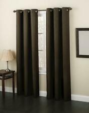Envision Studio Montego Chocolate Brown Grommet Top ONE (1) Window Panel 48x84""
