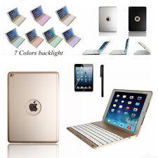 for Apple iPad Air 2(ipad 6) Aluminum Wireless Bluetooth Keyboard Case Cover