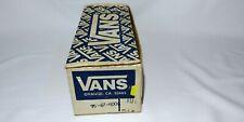 New listing Vintage Empty Vans shoe box blue Orange California 10 1/2 1980's