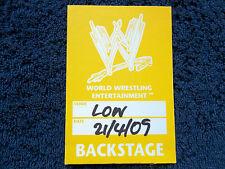 WWE (Triple H, Big Show, servicios funerarios, Hardy's) - 21 de abril de 2009, Londres. Backstage Pass