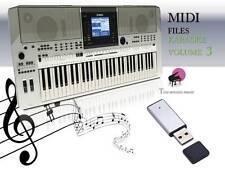 Archivo MIDI Karaoke memoria USB para psr S710 Vol 3 Nuevo